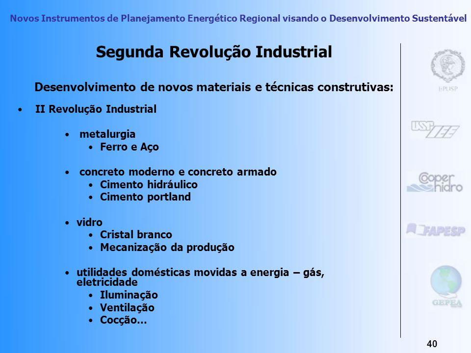 Novos Instrumentos de Planejamento Energético Regional visando o Desenvolvimento Sustentável 39 Os usos finais compreendidos no contexto do Desenvolvi