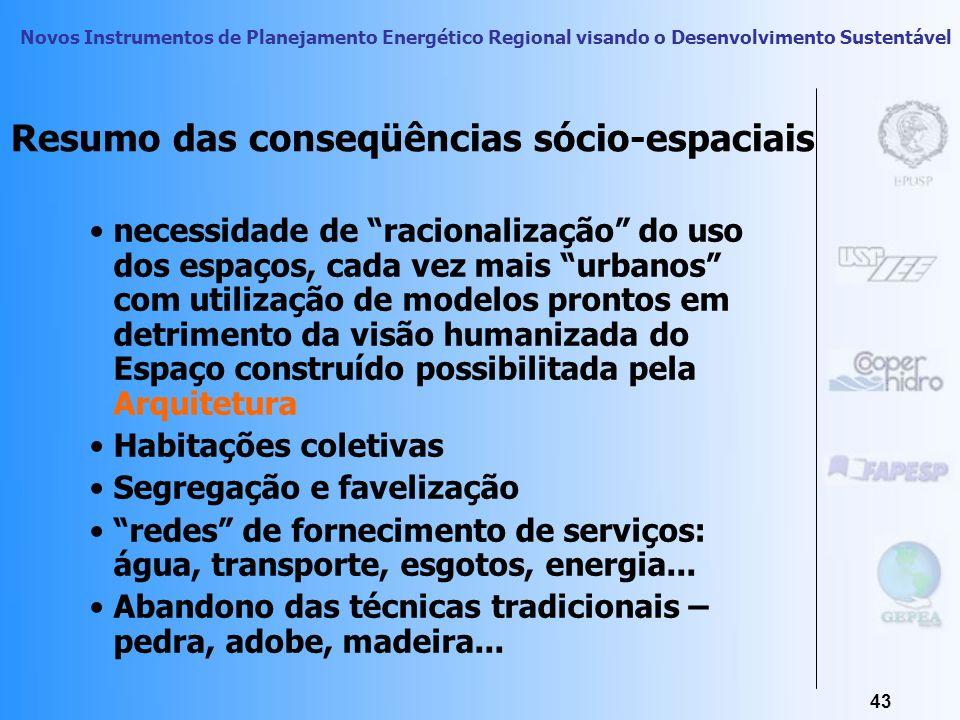 Novos Instrumentos de Planejamento Energético Regional visando o Desenvolvimento Sustentável 42 Racionalização Construtiva sem a Dimensão Cultural, So