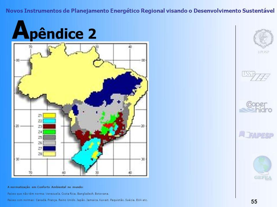 Novos Instrumentos de Planejamento Energético Regional visando o Desenvolvimento Sustentável 54 A pêndice 1 Janaíde Cavalcante Rocha e Vanderley M. Jo