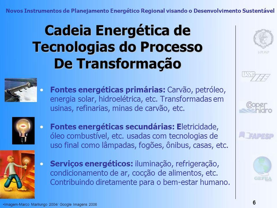 Novos Instrumentos de Planejamento Energético Regional visando o Desenvolvimento Sustentável 5 Usos Finais A relação direta entre o ser humano e a ene