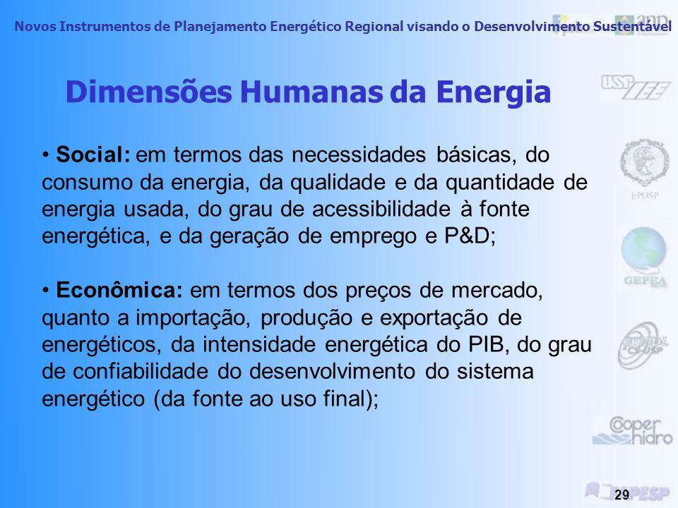 Novos Instrumentos de Planejamento Energético Regional visando o Desenvolvimento Sustentável 28 Energia e Equidade Cerca de 1/3 dos seres humanos do p