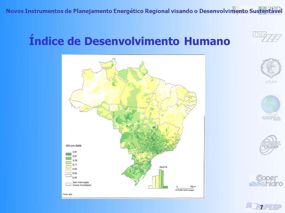 Novos Instrumentos de Planejamento Energético Regional visando o Desenvolvimento Sustentável 6 Qualidade de Vida Apesar de mensurar a qualidade de vid