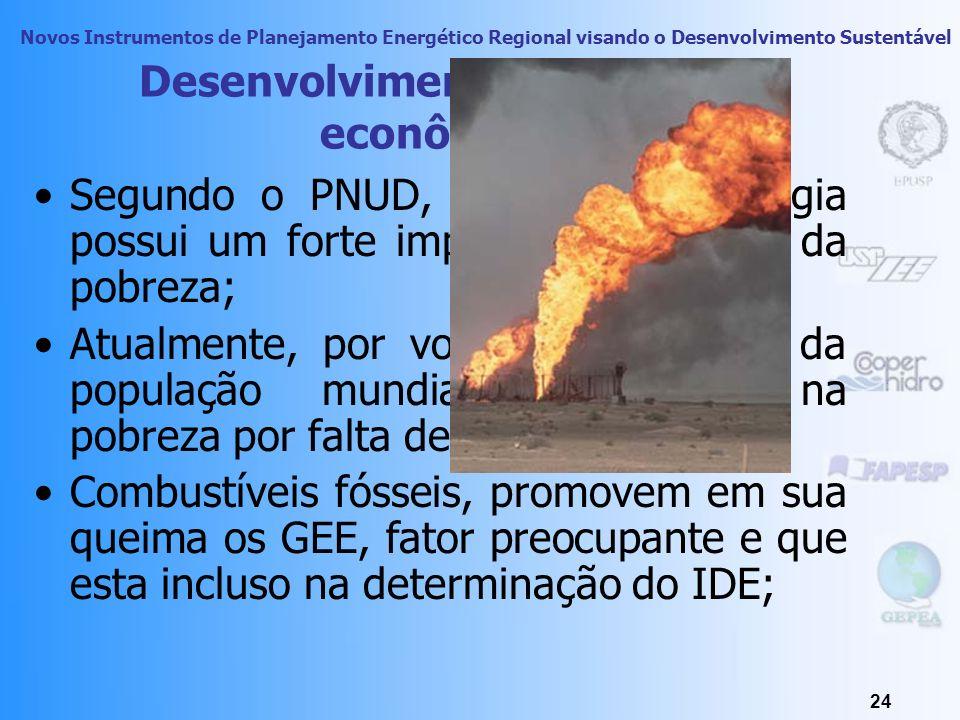 Novos Instrumentos de Planejamento Energético Regional visando o Desenvolvimento Sustentável 23 Desenvolvimento humano e econômico Empreendimentos ene