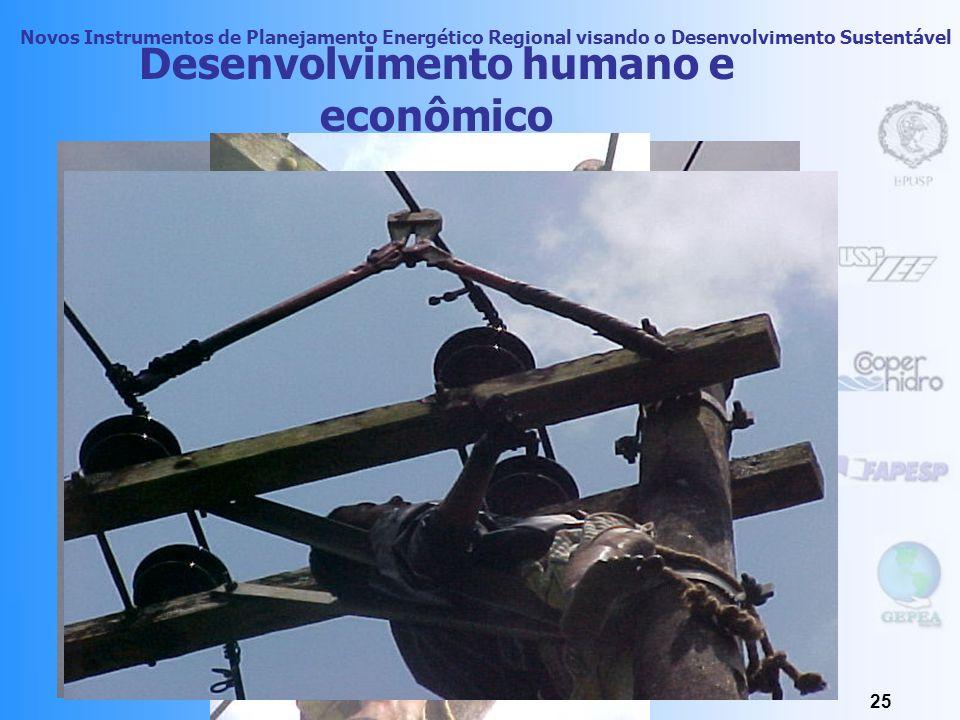 Novos Instrumentos de Planejamento Energético Regional visando o Desenvolvimento Sustentável 24 Desenvolvimento humano e econômico Segundo o PNUD, o a