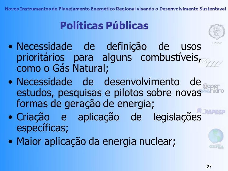 Novos Instrumentos de Planejamento Energético Regional visando o Desenvolvimento Sustentável 26 Desenvolvimento humano e econômico Variação dos preços