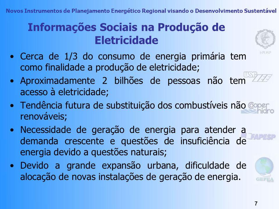 Novos Instrumentos de Planejamento Energético Regional visando o Desenvolvimento Sustentável 6 Análise Inicial das Questões Sociais As questões sociai
