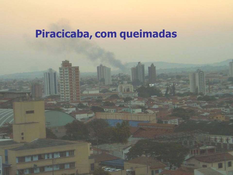 Novos Instrumentos de Planejamento Energético Regional visando o Desenvolvimento Sustentável 15 Piracicaba, sem queimadas