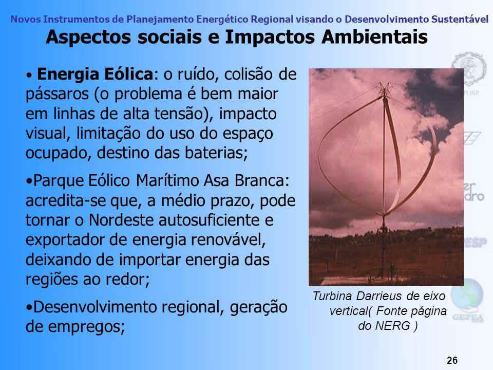 Novos Instrumentos de Planejamento Energético Regional visando o Desenvolvimento Sustentável 25 Aterro Delta, Campinas 2000 Biogás danos à vegetação;