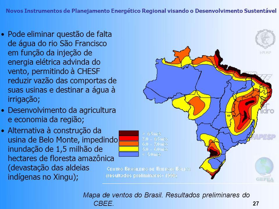 Novos Instrumentos de Planejamento Energético Regional visando o Desenvolvimento Sustentável 26 Energia Eólica: o ruído, colisão de pássaros (o proble