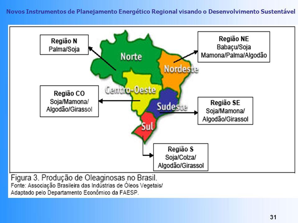 Novos Instrumentos de Planejamento Energético Regional visando o Desenvolvimento Sustentável 30 Petrodiesel X Biodiesel H3C-CH2- CH2- CH2- CH2- CH2- C