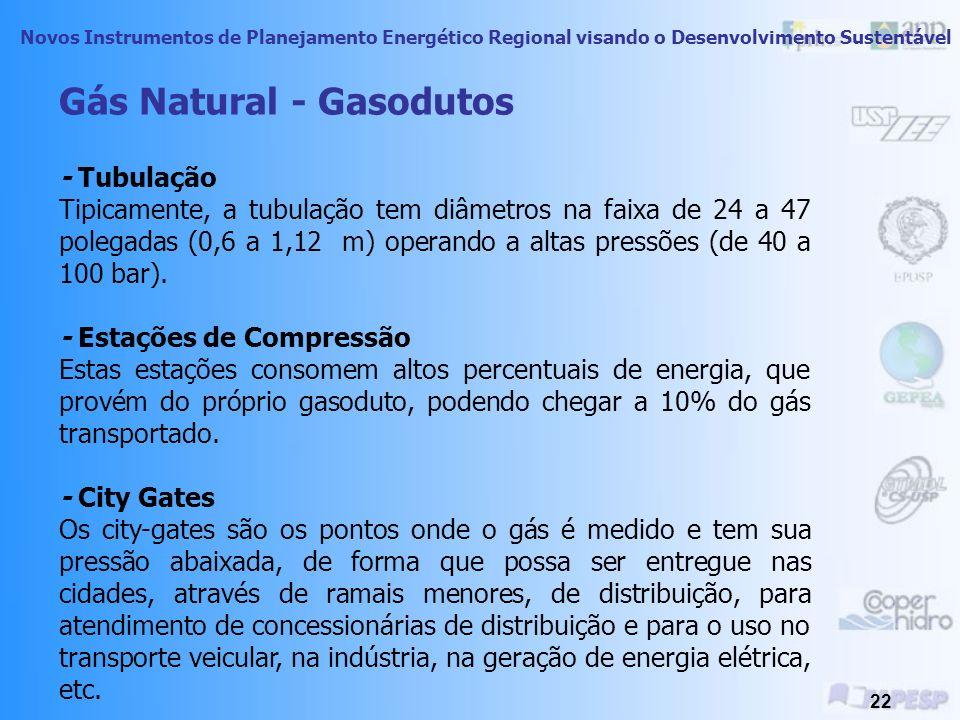 Novos Instrumentos de Planejamento Energético Regional visando o Desenvolvimento Sustentável 21 Cadeia do Gás Natural Natural Gás Productio n Impuriti
