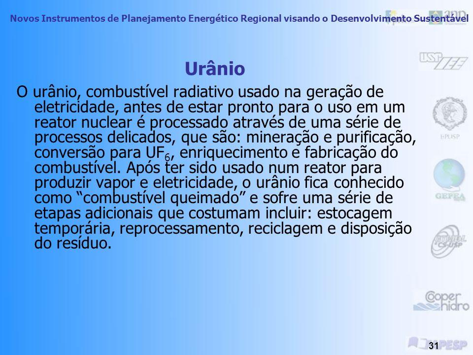 Novos Instrumentos de Planejamento Energético Regional visando o Desenvolvimento Sustentável 30 Impactos Ambientais Exemplo: Gasoduto Bolívia-Brasil: