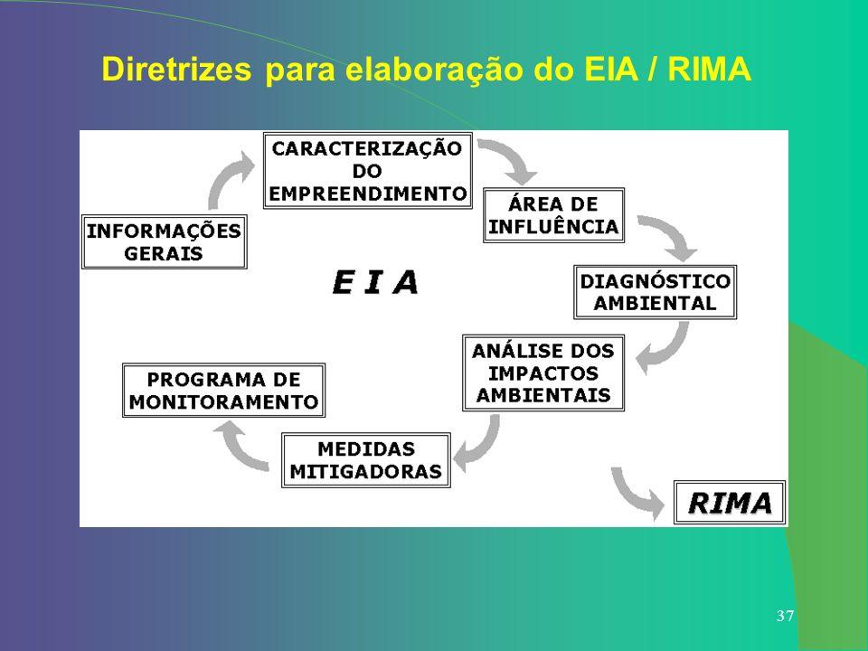 37 Diretrizes para elaboração do EIA / RIMA