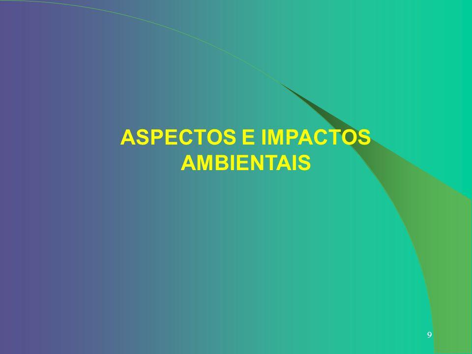 9 ASPECTOS E IMPACTOS AMBIENTAIS