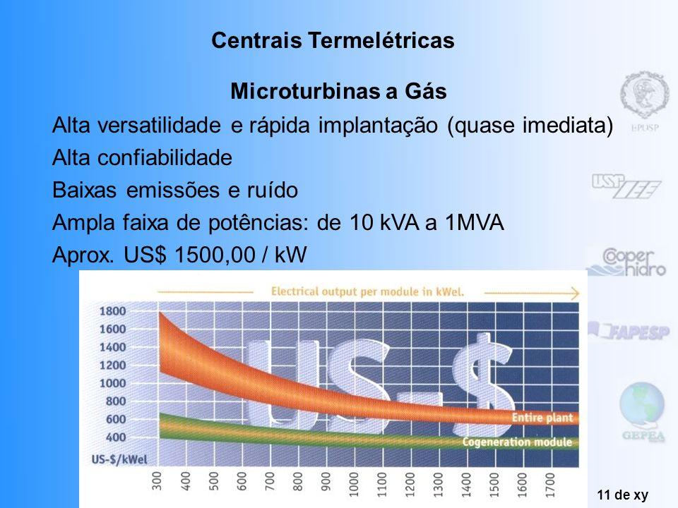 Produção de Energia Fábio Correa Leite 10 de xy Turbinas a Gás Centrais Termelétricas