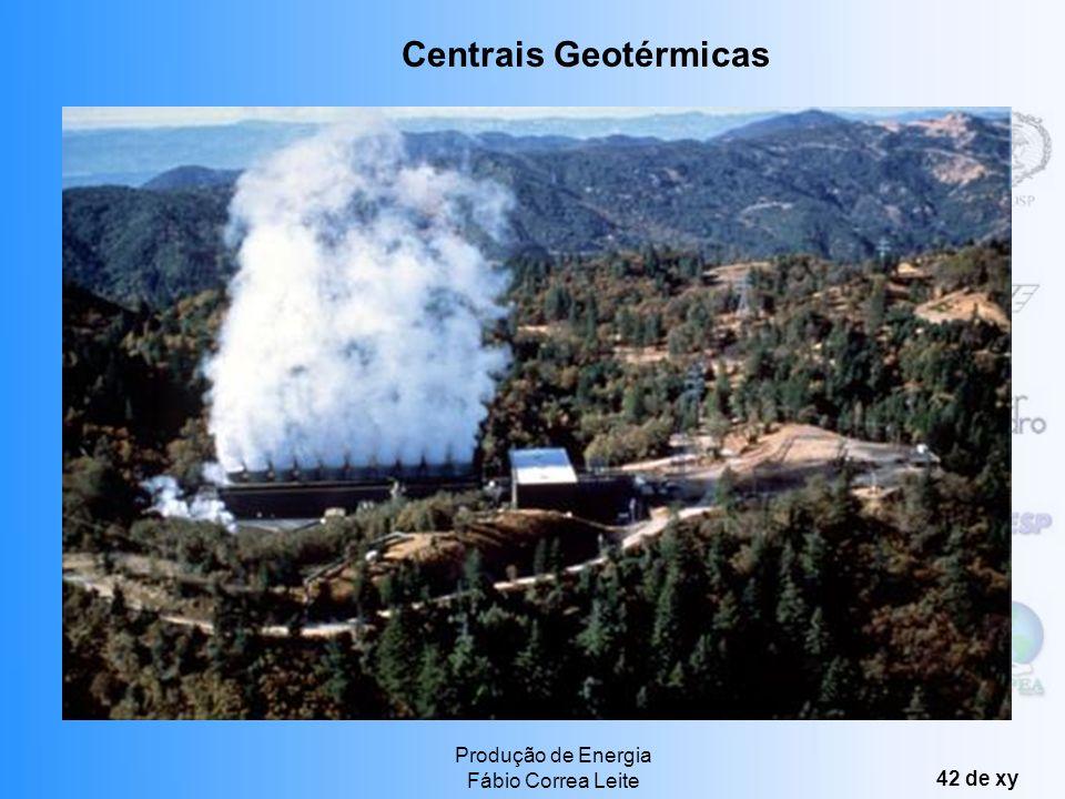 Produção de Energia Fábio Correa Leite 41 de xy Pode ser feita de quatro maneiras: Energia hidrotérmica: reservatórios de água quente e/ou vapor apris