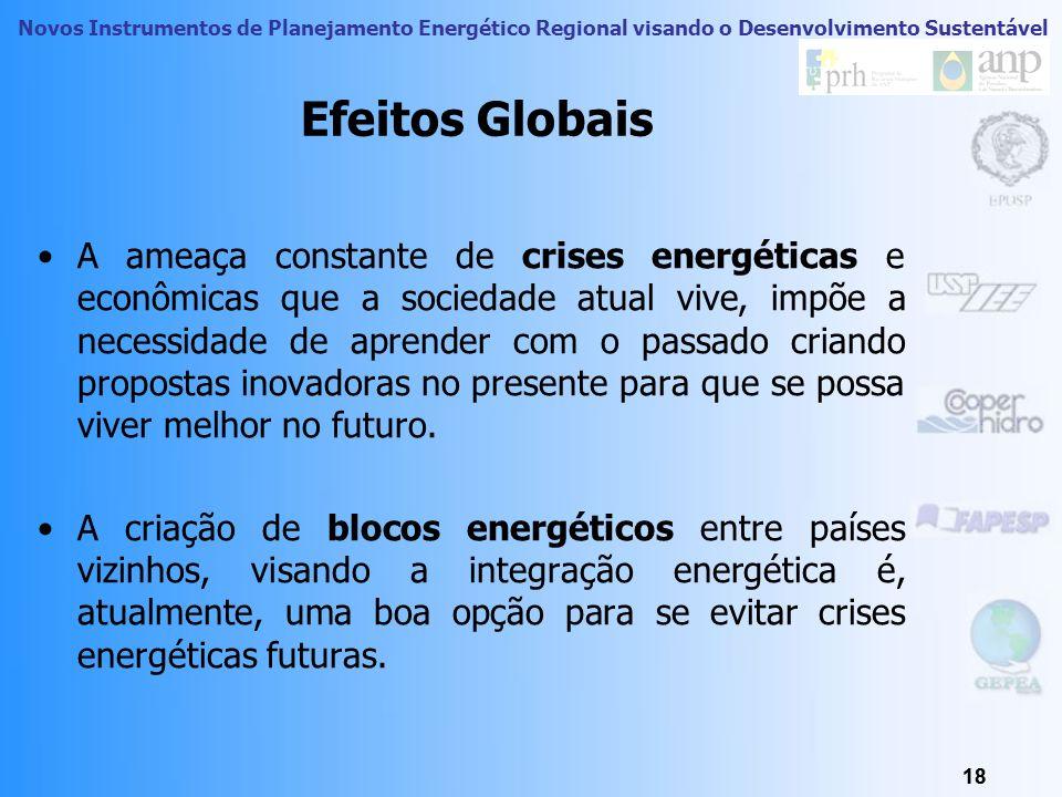 Novos Instrumentos de Planejamento Energético Regional visando o Desenvolvimento Sustentável 17 Efeitos Globais 17