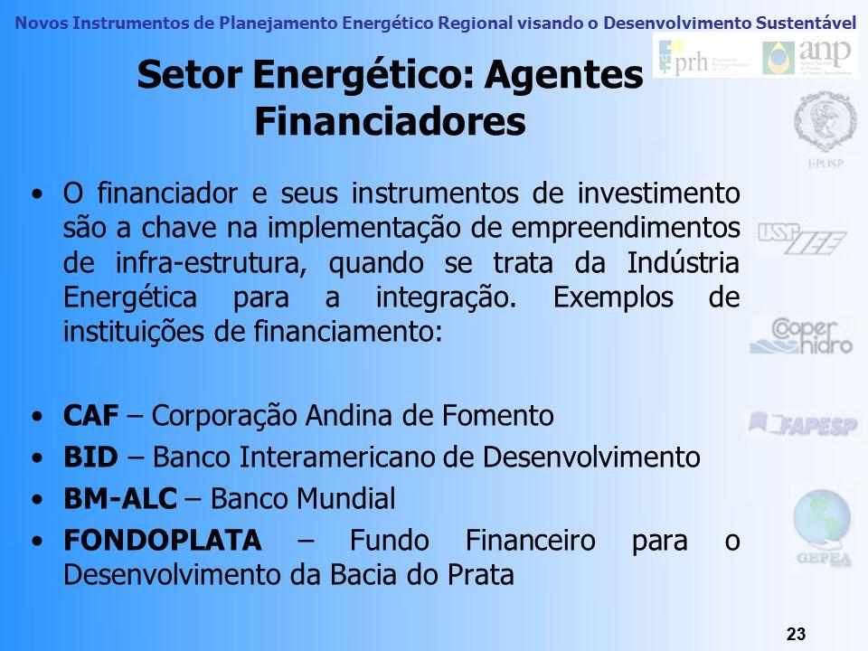 Novos Instrumentos de Planejamento Energético Regional visando o Desenvolvimento Sustentável 22 Setor Energético Um mercado energético transfronteiriç