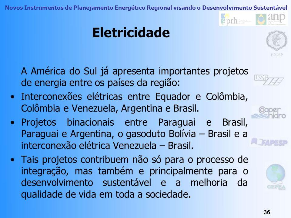 Novos Instrumentos de Planejamento Energético Regional visando o Desenvolvimento Sustentável 35 Integração Energética: Petróleo e Gás (2003)