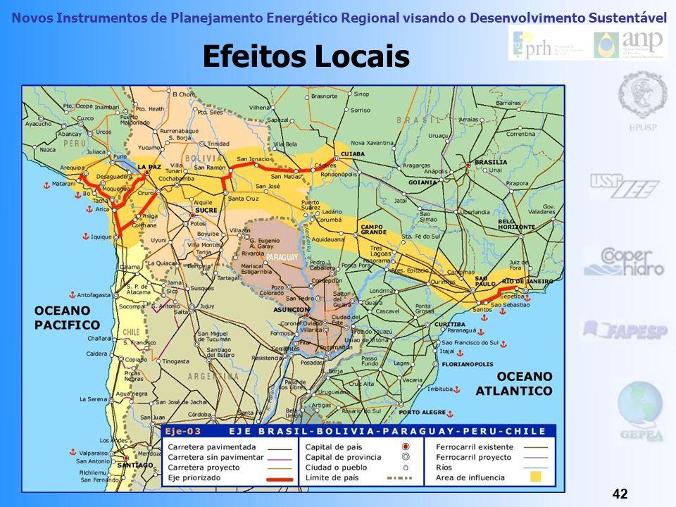 Novos Instrumentos de Planejamento Energético Regional visando o Desenvolvimento Sustentável Regionalização da América do Sul a partir de Fluxos 41