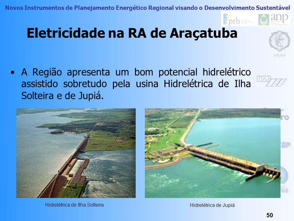 Novos Instrumentos de Planejamento Energético Regional visando o Desenvolvimento Sustentável 49 RA Araçatuba: Energia Elétrica 49