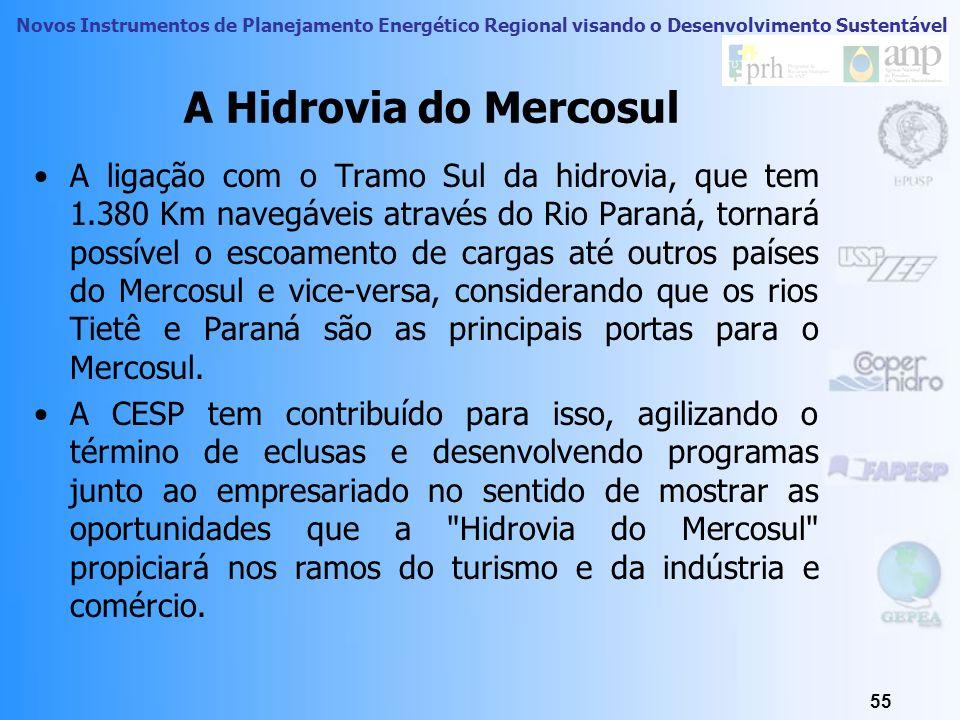 Novos Instrumentos de Planejamento Energético Regional visando o Desenvolvimento Sustentável Hidrovia Tietê-Paraná: A Hidrovia do Mercosul Ao longo do