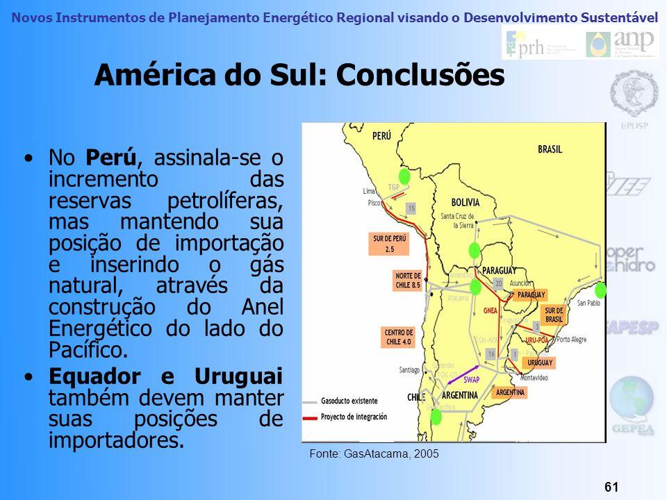 Novos Instrumentos de Planejamento Energético Regional visando o Desenvolvimento Sustentável 60 América do Sul : Conclusões A integração é necessária,