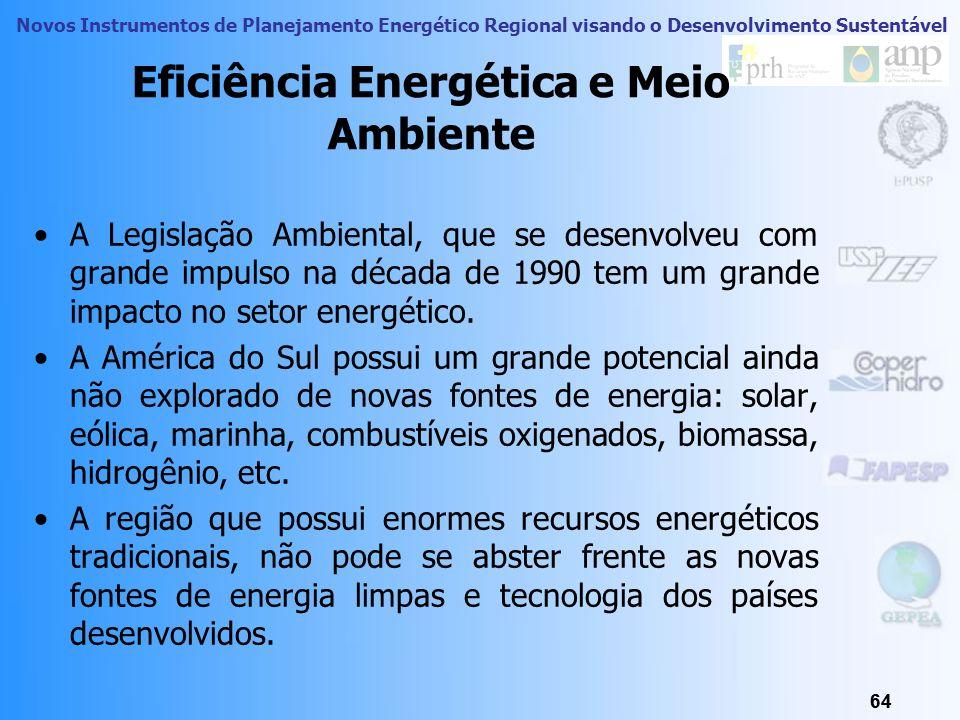 Novos Instrumentos de Planejamento Energético Regional visando o Desenvolvimento Sustentável 63 Eficiência Energética e Meio Ambiente 63