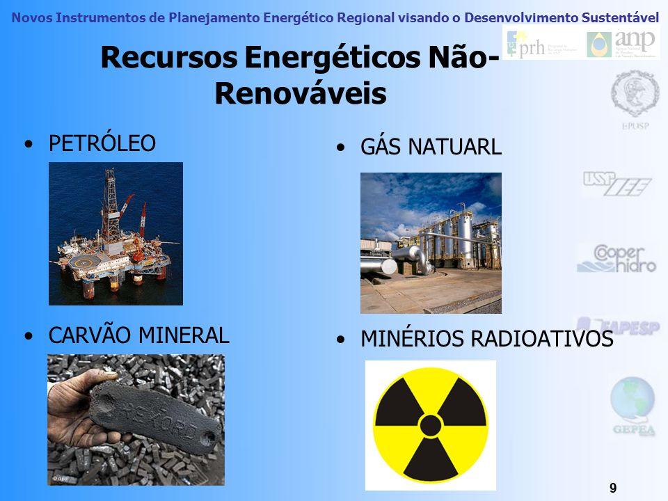 Novos Instrumentos de Planejamento Energético Regional visando o Desenvolvimento Sustentável 8 Recursos Naturais: Recursos Energéticos Recursos energé