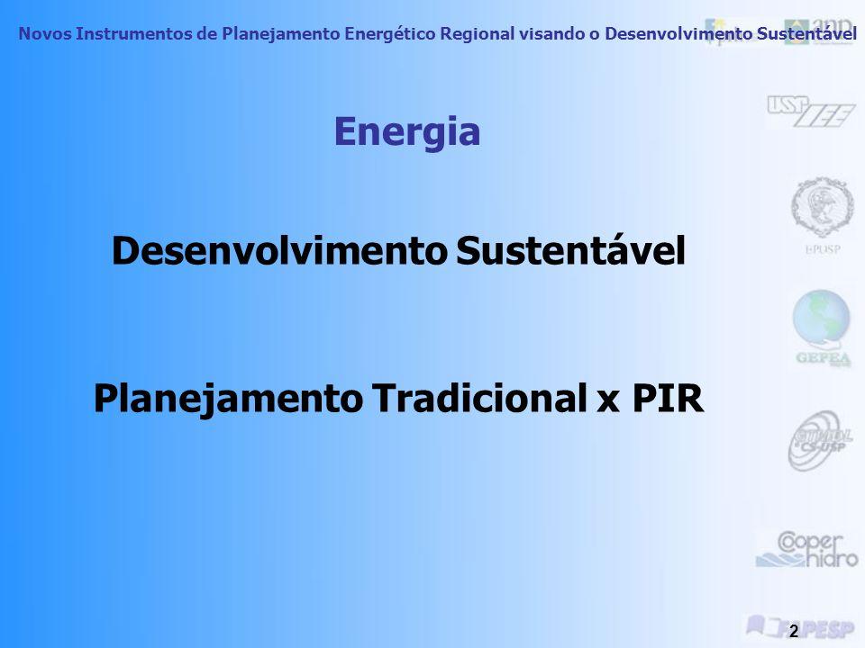 Planejamento Integrado de Recursos Energéticos no Oeste do Estado de São Paulo Treinamento Técnico- Dimensão Ambiental Novos Instrumentos de Planejamento Energético Regional visando o Desenvolvimento Sustentável Introdução