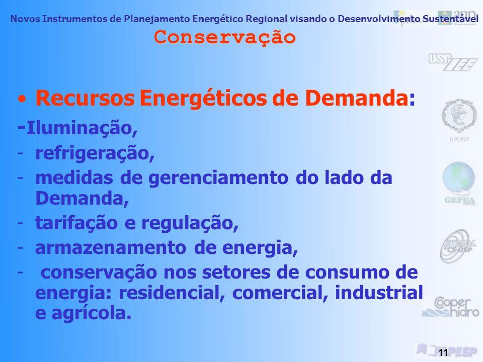 Novos Instrumentos de Planejamento Energético Regional visando o Desenvolvimento Sustentável 10 Conservação Porque Conservar os Recursos? Público! Os