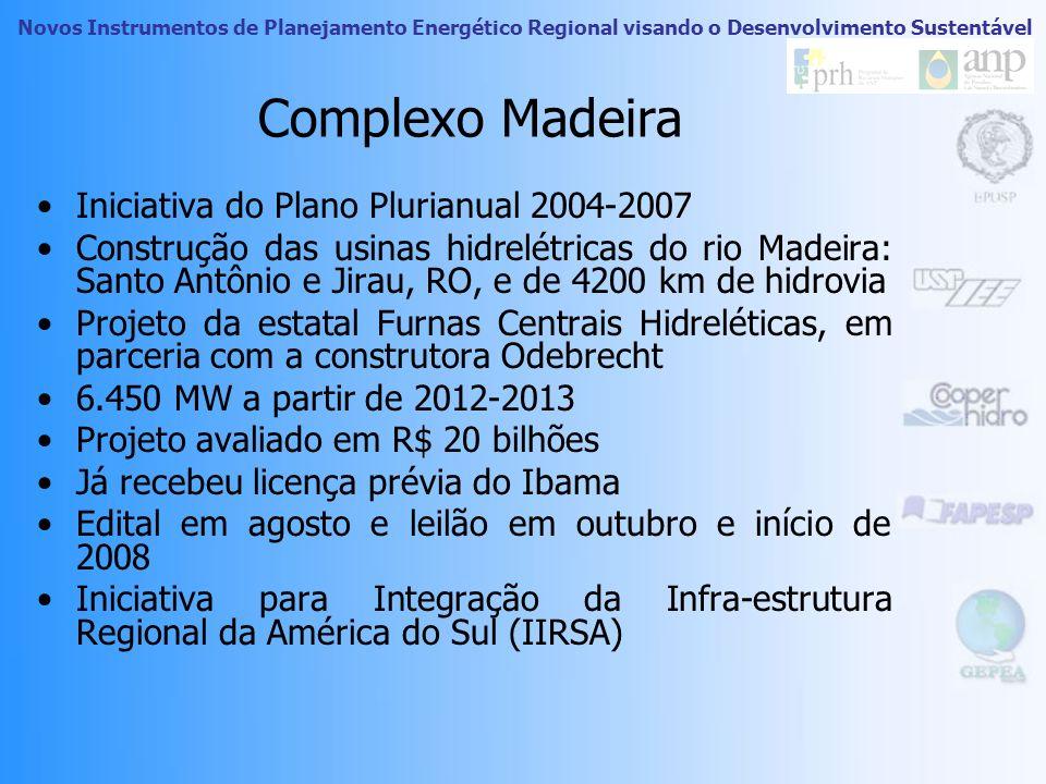 Novos Instrumentos de Planejamento Energético Regional visando o Desenvolvimento Sustentável Empreendimentos Energéticos Fonte: Julia Bellacosa, 2006