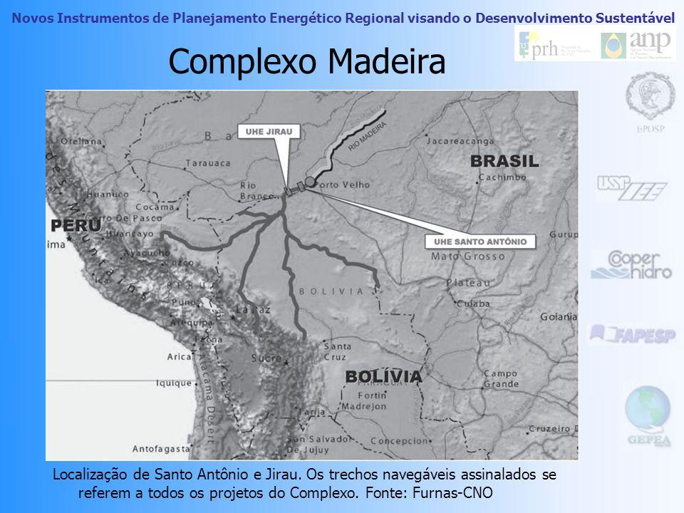 Novos Instrumentos de Planejamento Energético Regional visando o Desenvolvimento Sustentável Mapa do plano IIRSA para a interconexão fluvial sul-ameri