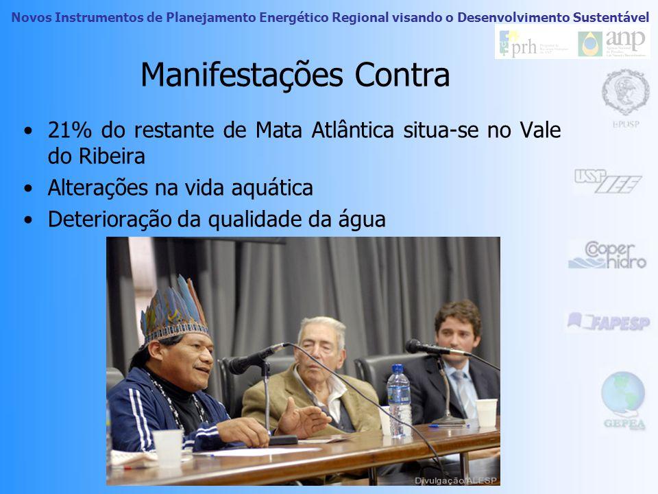 Novos Instrumentos de Planejamento Energético Regional visando o Desenvolvimento Sustentável Manifestações contra Associação Sindical dos Trabalhadore