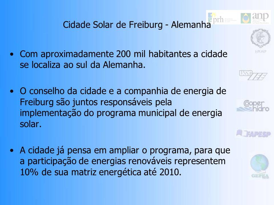 Cidades Solares Uma Cidade Solar é uma área urbana com programas pró-ativos pelo aumento do número de sistemas solares instalados nas edificações. A i