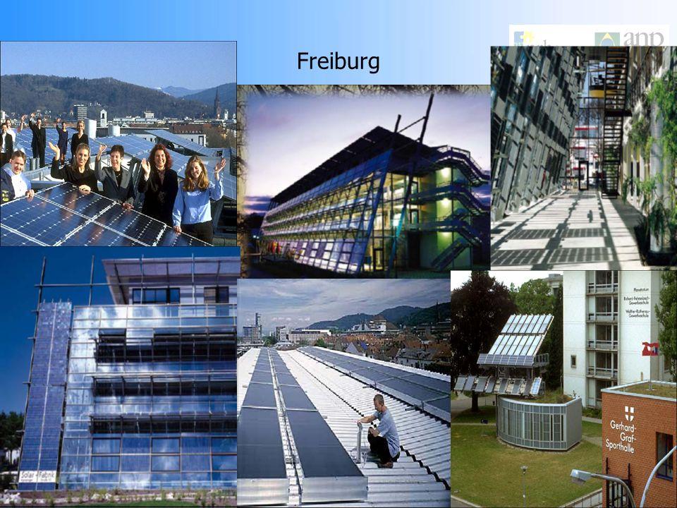 Cidade Solar de Freiburg - Alemanha Com aproximadamente 200 mil habitantes a cidade se localiza ao sul da Alemanha. O conselho da cidade e a companhia