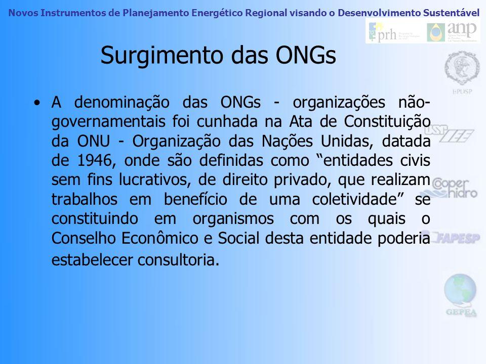 Novos Instrumentos de Planejamento Energético Regional visando o Desenvolvimento Sustentável ONGs Fonte: www.wwf.org.br