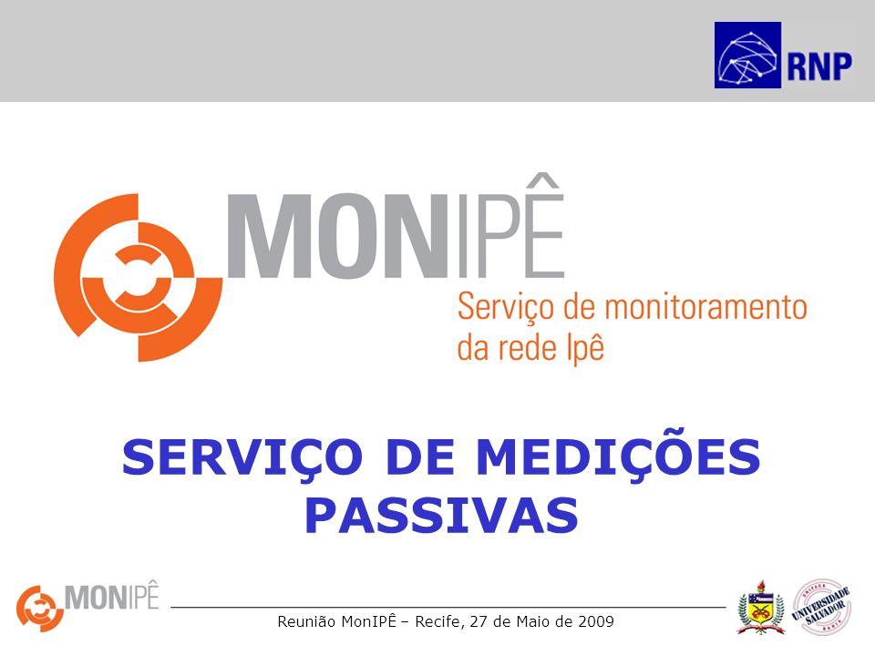 Reunião MonIPÊ – Recife, 27 de Maio de 2009 SERVIÇO DE MEDIÇÕES PASSIVAS