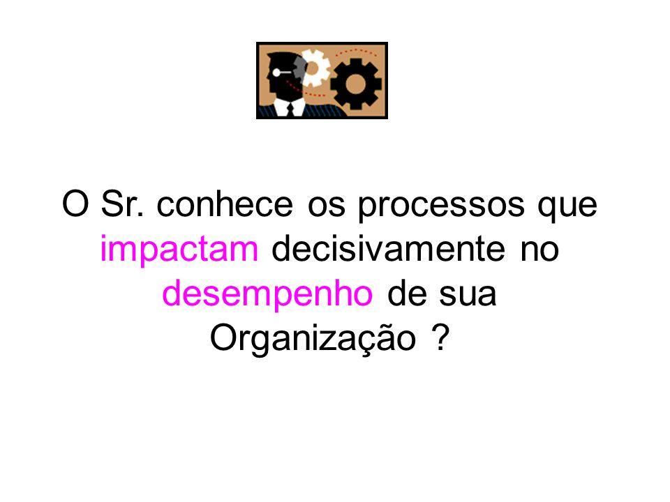 O Sr. conhece os processos que impactam decisivamente no desempenho de sua Organização ?