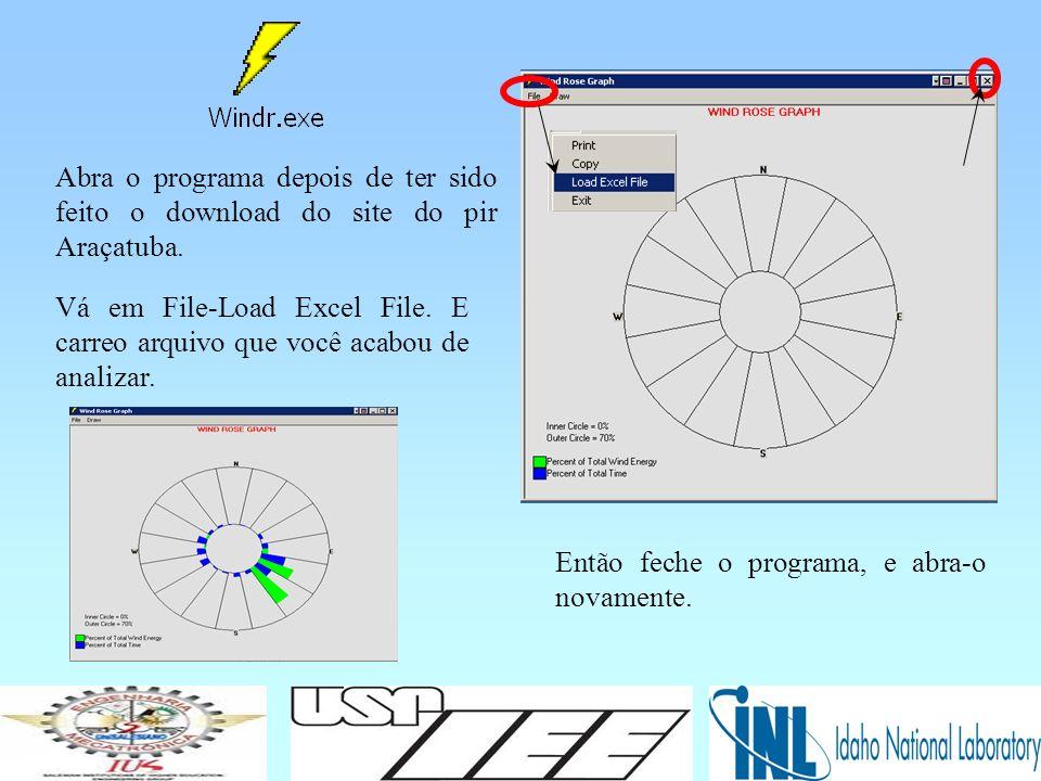 Abra o programa depois de ter sido feito o download do site do pir Araçatuba.