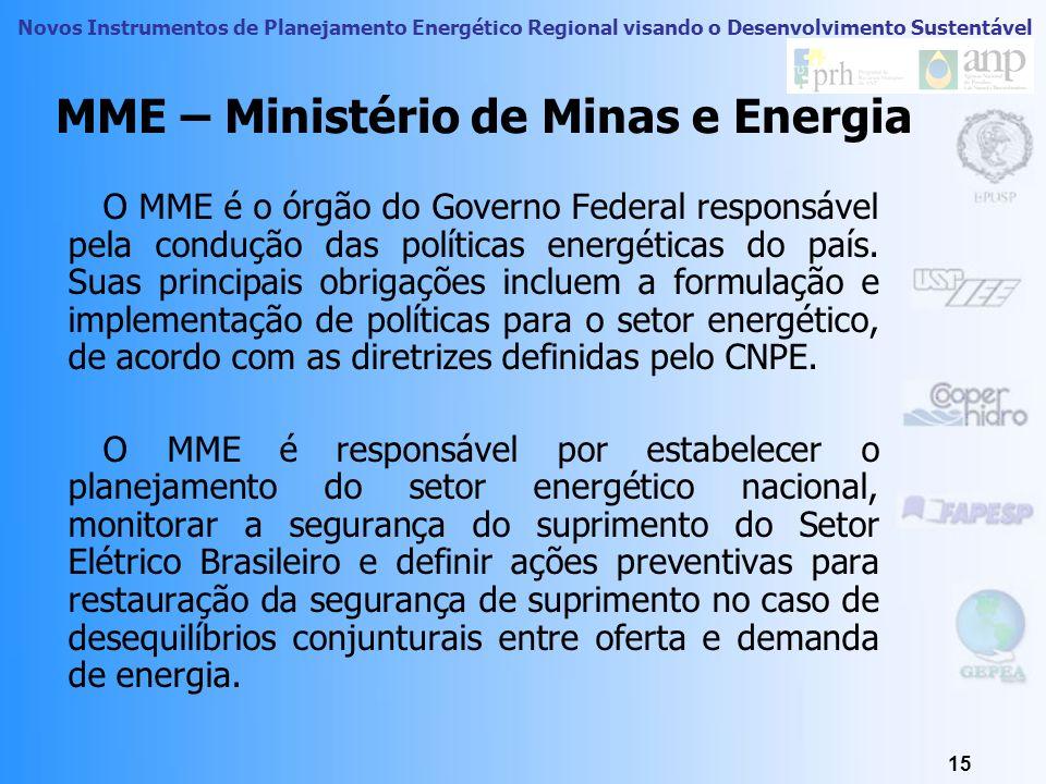 Novos Instrumentos de Planejamento Energético Regional visando o Desenvolvimento Sustentável 14 CNPE garantia do fornecimento de derivados de petróleo