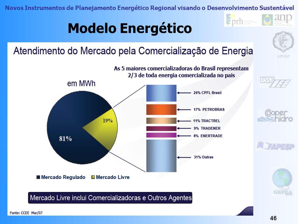 Novos Instrumentos de Planejamento Energético Regional visando o Desenvolvimento Sustentável 45 Modelo Energético a existência de dois ambientes de co