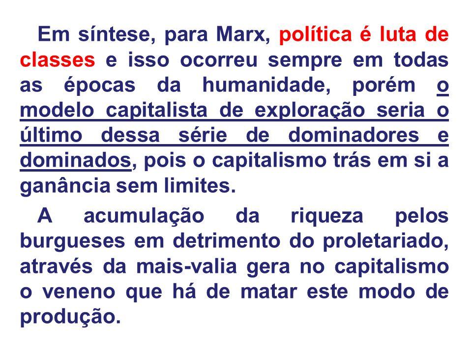 MARX: HÁ DUAS FORMAS DE EXPLORAÇÃO: a) Mais-valia absoluta: fazer com que trabalhem mais horas recebendo os mesmos salários, o que, claro, aumenta a produção.
