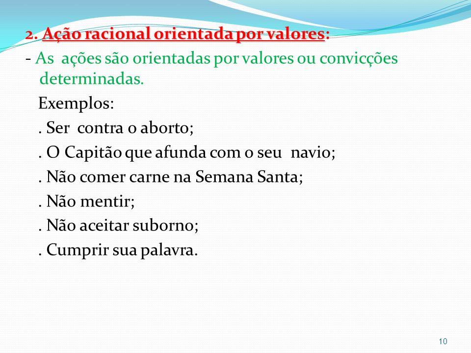 Ação racional orientada por valores 2.