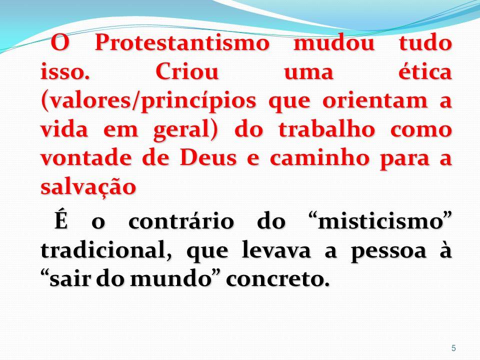 O Protestantismo mudou tudo isso.