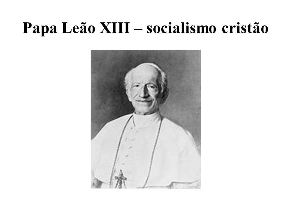 Papa Leão XIII – socialismo cristão