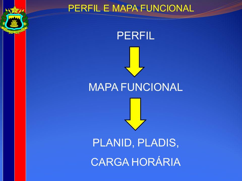 PERFIL MAPA FUNCIONAL PLANID, PLADIS, CARGA HORÁRIA PERFIL E MAPA FUNCIONAL