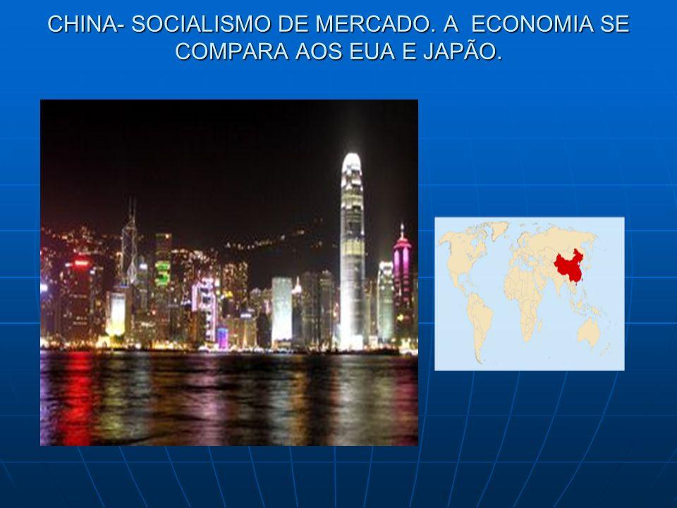 CHINA- SOCIALISMO DE MERCADO. A ECONOMIA SE COMPARA AOS EUA E JAPÃO.