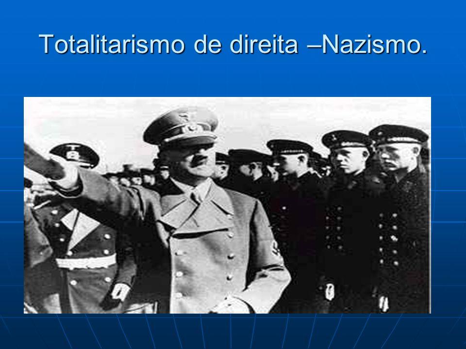 Totalitarismo de direita –Nazismo.