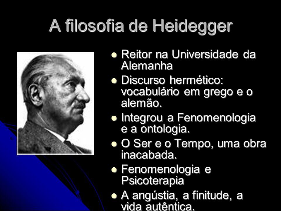 A filosofia de Heidegger Reitor na Universidade da Alemanha Reitor na Universidade da Alemanha Discurso hermético: vocabulário em grego e o alemão.